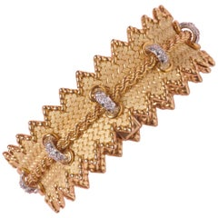 Georges Lenfant Gold and Diamond 'Cordelière' Bracelet
