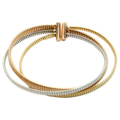 K di Kuore 3 Color Bangle Gold Bracelet