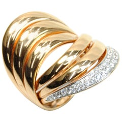 Pink Gold Ring 16.90 GR and 40 Carat Diamonds