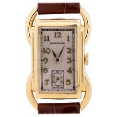 Hamilton Yellow Gold Bentley manual wind wristwatch, circa 1939