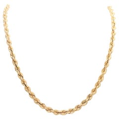 14 Karat Heavy Rope Chain Necklace