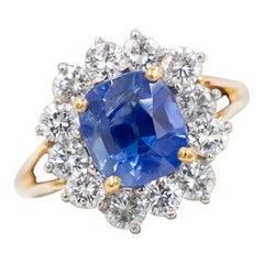 Kashmir Blue Sapphire 3.46 Carat Ring