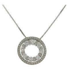 Damiani's Belle Époque 18 Karat Gold Round Diamond Pendant Necklace