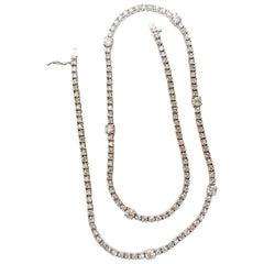 8.00ct diamonds rounds eternity riviera necklace 14kt 7 spacer / 149 diamond