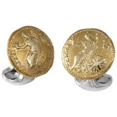 Deakin & Francis Sterling Silver 230 Coin Cufflinks, Royal Britannia