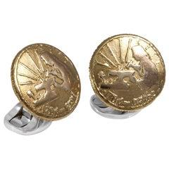 Deakin & Francis Sterling Silver 230 Coin Cufflinks, Jeweller