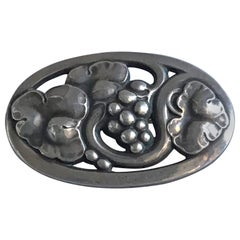 Georg Jensen Sterling Silver Brooch #177