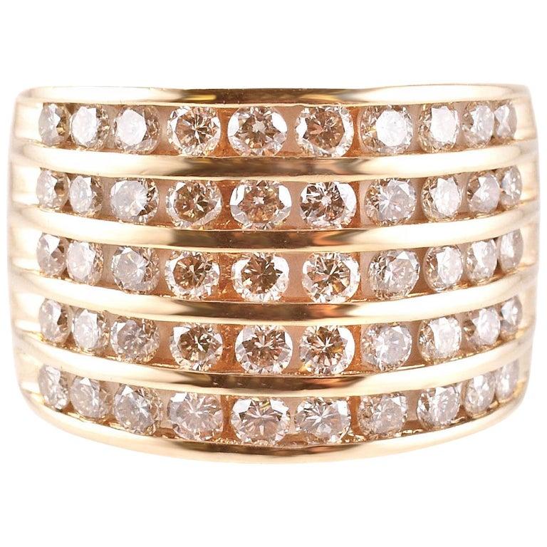 1.50 Carat Diamond Ring in 14 Karat Yellow Gold