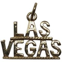 Vintage 14 Karat Gold Las Vegas Pendent Charm