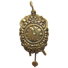 Vintage 14 Karat Gold Victorian Cuckoo Clock Pendent Charm