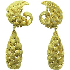 Pair of Yellow Gold Earrings