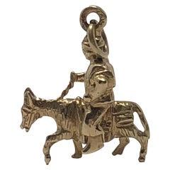 Vintage 14 Karat Gold Sancho Panza Pendent Charm