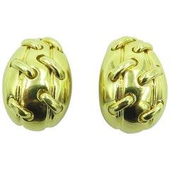 Tiffany & Co., Gold Half Hoop Earrings