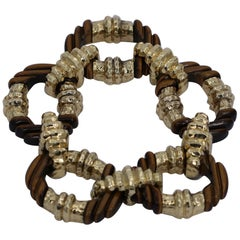 Gold and Tiger's Eye Link Bracelet