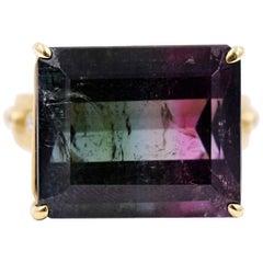 Suzy Landa Watermelon Tourmaline Pink Sapphire Diamond Cocktail Ring