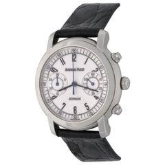Audemars Piguet Jules Audemars Stainless Steel Chronograph Wristwatch
