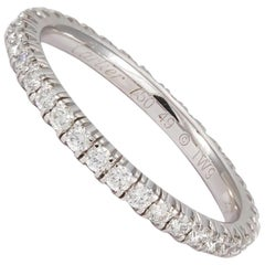 Cartier Étincelle 18 Karat Gold Diamond Eternity Wedding Band, Box and Papers