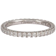 Cartier Étincelle 18 Karat Gold Diamond Eternity Wedding Band Box and Papers