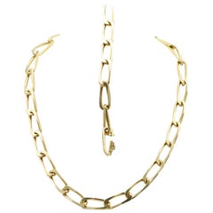 Cartier Gold Curb Link Chain Necklace/Bracelet Combination, France
