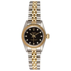 Rolex Two-Tone Datejust 67193 Stainless Steel and 18 Karat Yellow Gold