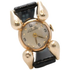 Lucien Piccard Ladies Yellow Gold Wristwatch, 1940s
