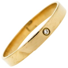 Modern Cartier Anniversary Diamond 18 Karat Gold Bangle Bracelet