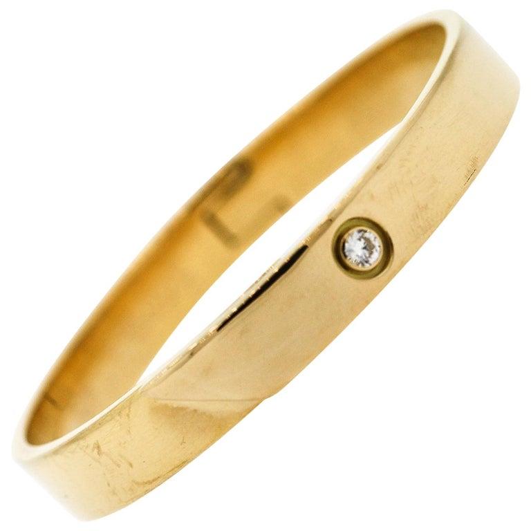 Modern Cartier Anniversary Diamond 18 Karat Gold Bangle Bracelet