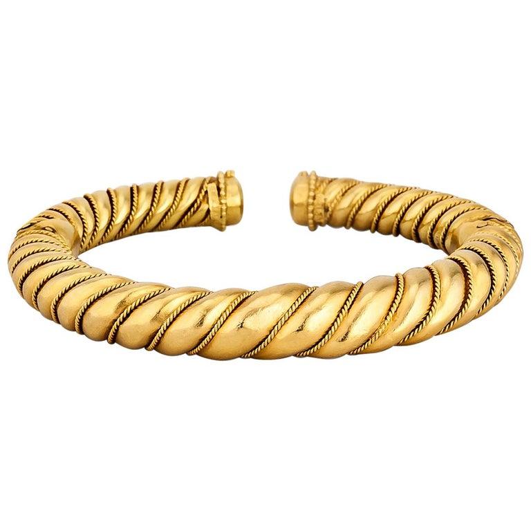 Lalalounis Gold Cuff Bracelet