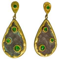 Victor Velyan Chrome Diopside Earrings
