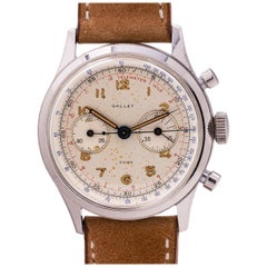 Gallet stainless steel Excelsior Park Chronograph Manual wristwatch, circa 1950