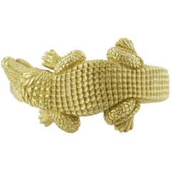 Kieselstein-Cord Alligator Bangle