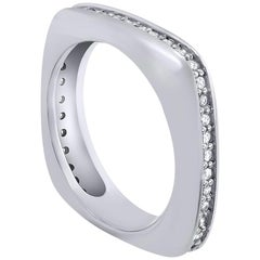 Alex Soldier Modern Sensuality Diamond Platinum One Unity Wedding Band