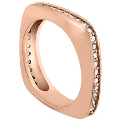Alex Soldier Modern Sensuality Diamond Rose Gold One Unity Wedding Band