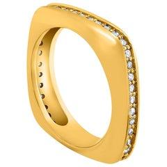 Alex Soldier Modern Sensuality Diamond Yellow Gold One Unity Wedding Band