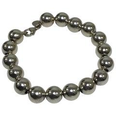 Tiffany & Co. Sterling Silver Beaded Ball Beaded Bracelet