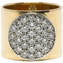 1980s Jean Dinh Van 18 Karat Gold 'Anthea' Ring with Diamonds