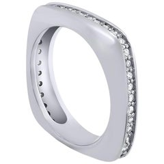 Alex Soldier Modern Sensuality Diamond White Gold One Unity Wedding Band