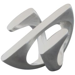 Angela Hübel Sculptural Post-Modernist Silver Ring