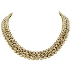 Bulgari 18 Karat Yellow Gold and Diamond Necklace