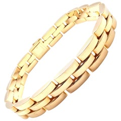 Cartier Maillon Panthere Three-Row Link Gold Bracelet