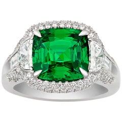 Tsavorite Garnet Ring, 5.12 Carat