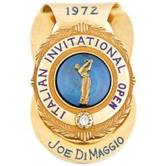 Joe DiMaggio Golf Tournament Money Clip