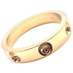 Louis Vuitton Empreinte Yellow Gold Band Ring