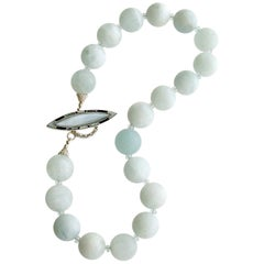 Matte Aquamarine Choker Necklace, Les Tresors de la Mer II Necklace