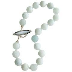 Matte Aquamarine Choker Necklace, Les Tresors de la Mer II Necklace