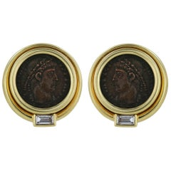 Bulgari Coin Earrings