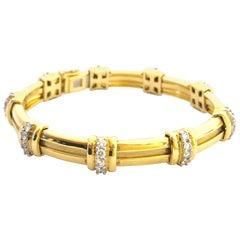 Tiffany & Co. Diamond Platinum and Gold Bracelet