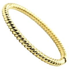 Twisted Cable Style Bangle Bracelet 14 Karat Yellow Gold