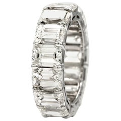 Emerald Cut Diamond Platinum Eternity Band / Ring over 11 Carat