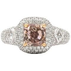 GIA Certified 1.63 Carat Pink Diamond Engagement Ring